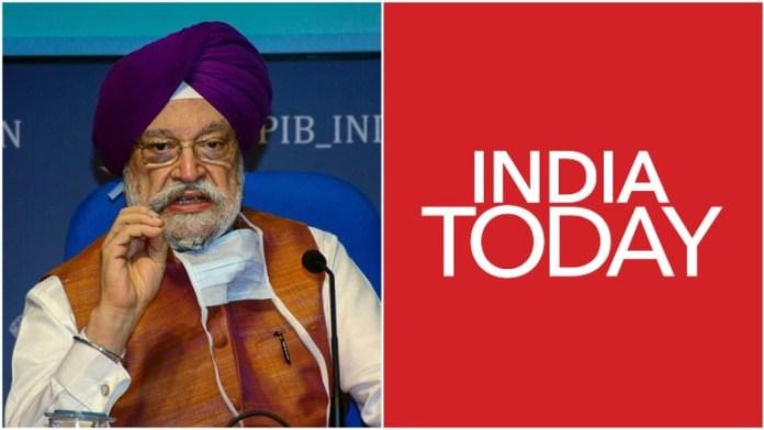 इंडिया टुडे को उड्डयन मंत्री की फटकार
