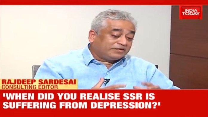 राजदीप सरदेसाई, रिया चक्रवर्ती का साक्षात्कार