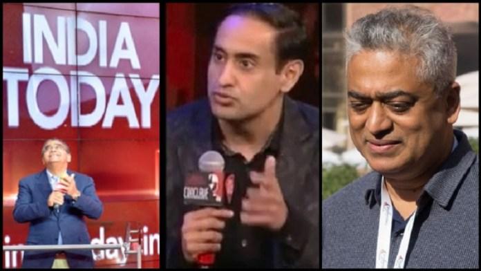 अरुण पुरी, राहुल कंवल और राजदीप सरदेसाई