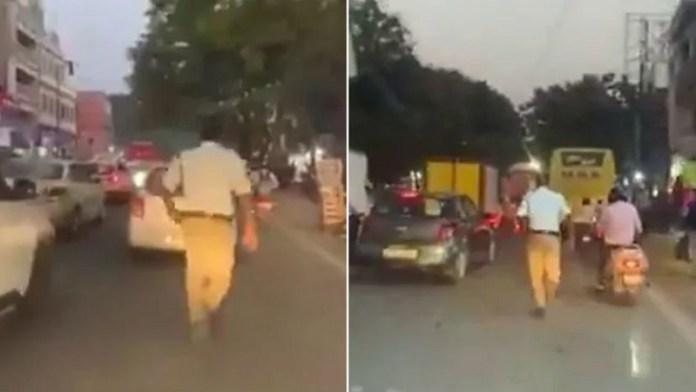 हैदराबाद ट्रैफिक पुलिस, वीडियो वायरल