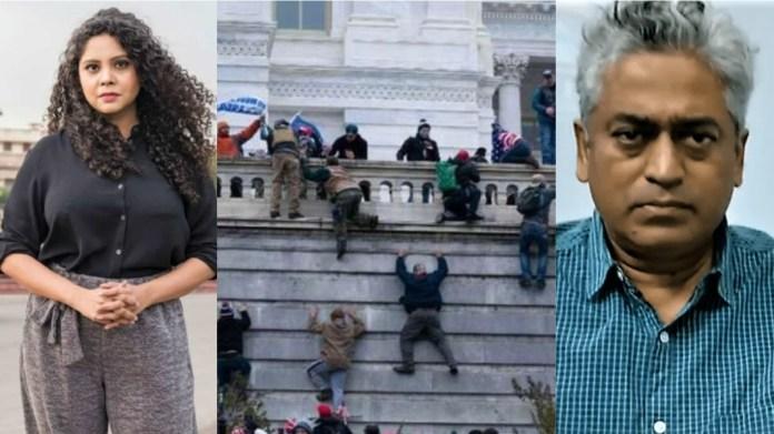 राणा अयूब, यूएस कैपिटल हिल, राजदीप सरदेसाई