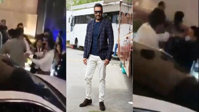 अजय देवगन, पिटाई, वीडियो