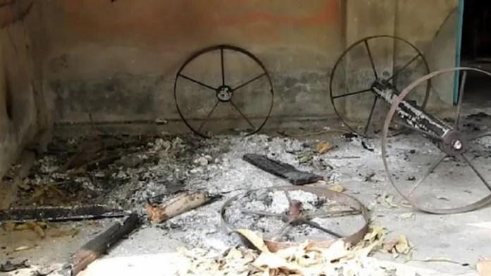 बांग्लादेश, हिंदू मंदिर, श्मशान, आगजनी