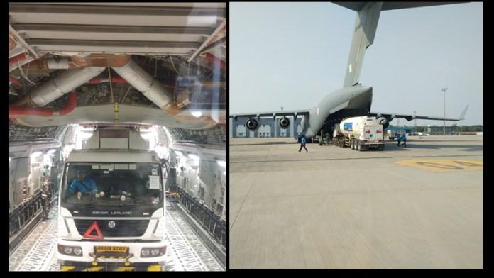 कोरोना ऑक्सीजन भारतीय वायुसेना