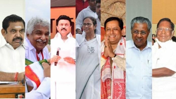 मतदान, तमिलनाडु, बंगाल, केरल