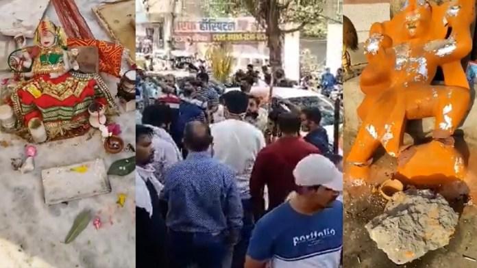 दिल्ली, ककरौला, मंदिर, क्षतिग्रस्त