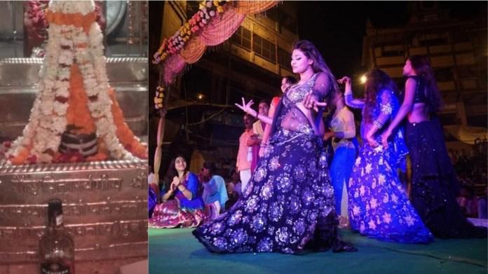 मणिकर्णिका घाट पर नगरवधुओं का नृत्य
