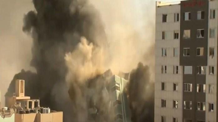 इजरायल अल जजीरा बिल्डिंग हमला