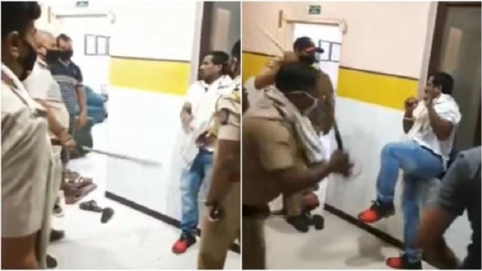 महाराष्ट्र पुलिस, भाजपा नेता, पिटाई वीडियो