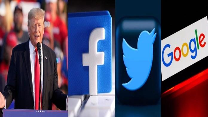 डोनाल्ड ट्रंप, फेसबुक, ट्विटर