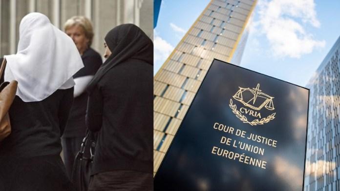 ECJ हिजाब, प्रतिबंध, कंपनियों