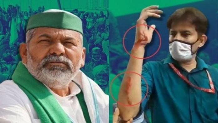किसान आंदोलन, पत्रकार पर हमला