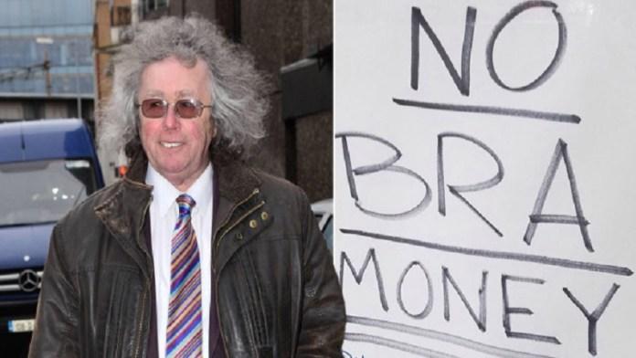 UK में दुकानों के बाहर लगा नोटिस No Bra Money