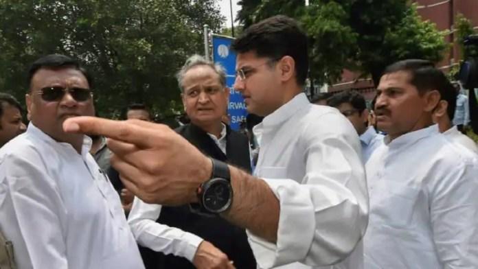 अशोक गहलोत, सचिन पायलट, राजस्थान कॉन्ग्रेस