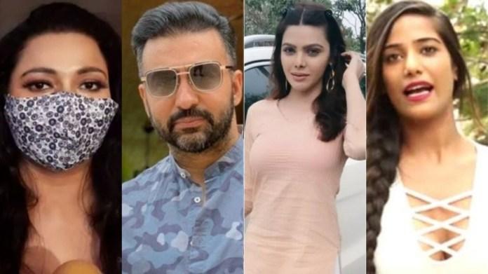 बॉलीवुड, राज कुंद्रा, शर्लिन चोपड़ा, पूनम पांडे