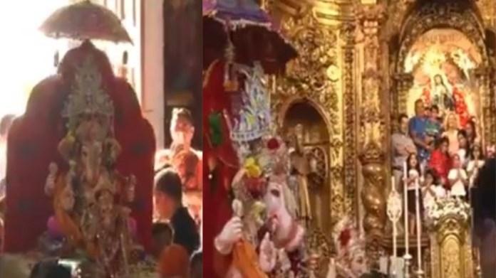 गणपति बप्पा, जीसस, स्पेन, वीडियो