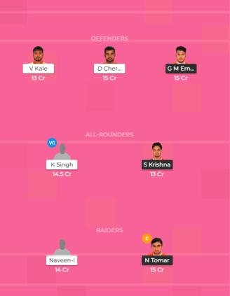 PUN vs HAR Dream11 Team