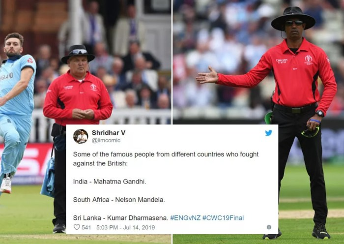 Twitter Slammed Umpiring in World Cup Final