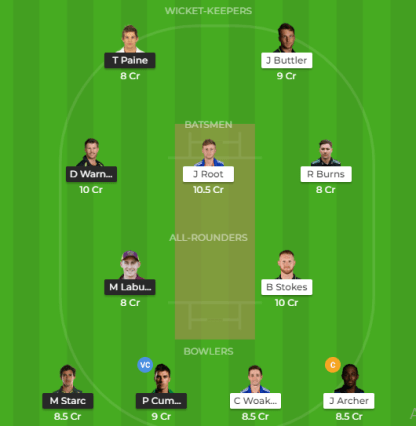 Eng vs Aus 3rd Test Dream11