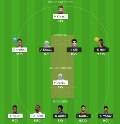IN-A vs SA-A 2nd Test Dream 11