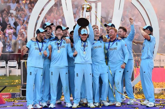 England Cricket Team Winning World Cup
