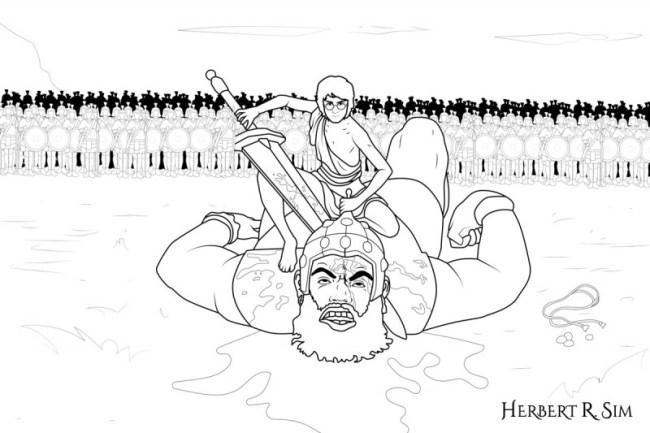 डेविड और गोलियथ की कहानी - DAVID AND GOLIATH STORY IN HINDI