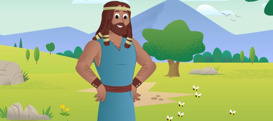Samson Bible Story For Kids (Source - bibleappforkids.in)