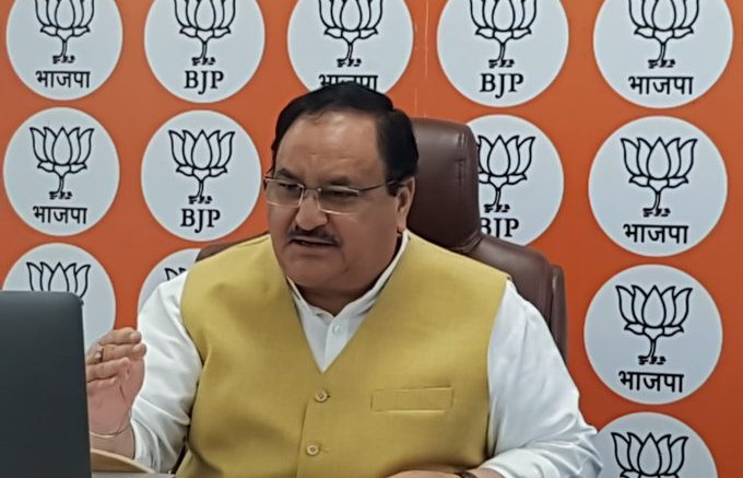 J P Nadda Video Conferencing