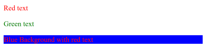 HTML Text Color Output