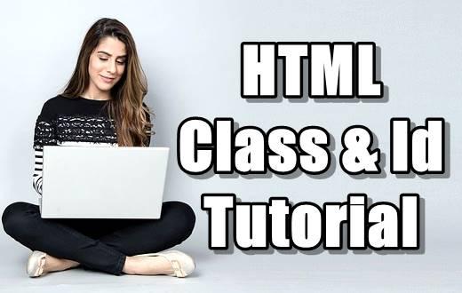 HTML Class & Id Attributes in Hindi - Part 14