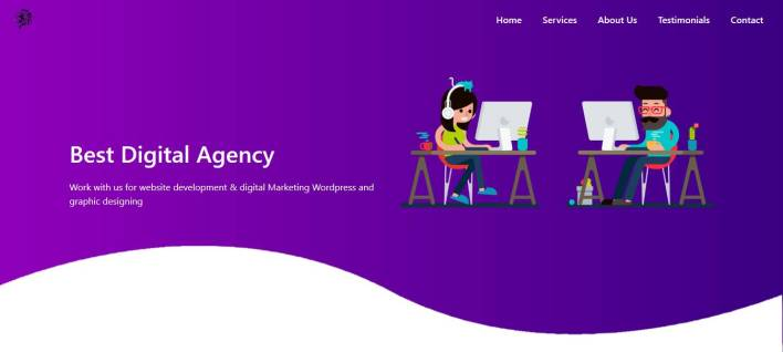 Simple Bootstrap, HTML, CSS3 Website Design Download Free