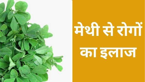 मेथी से रोगों का इलाज - Methi in Hindi