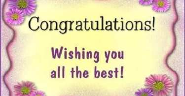 A congratulation message for graduation