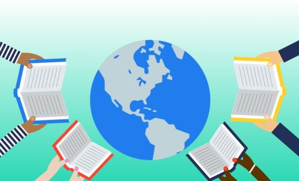 WORLD LITERACY IMAGE WITH QUOTES