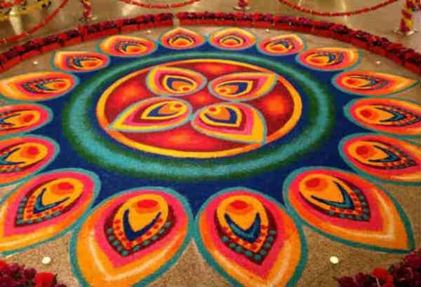 Durga ashtami rangoli design