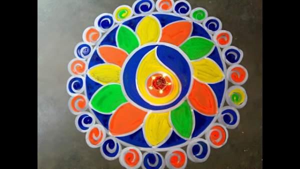 Durga ashtami rangoli hd