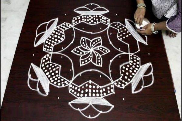 pongal rangoli_designs_with_dots