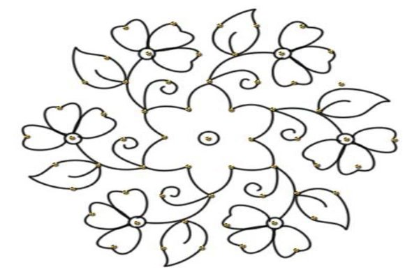 pongal rangoli_designs_with_dots_2