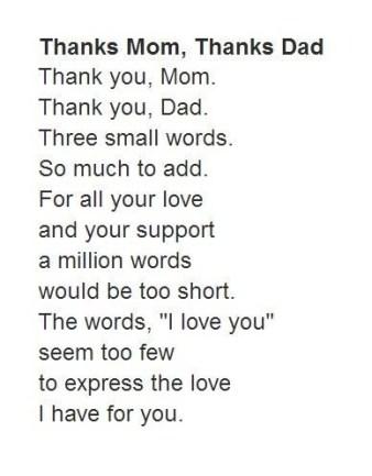 कविता माता पिता को समर्पित