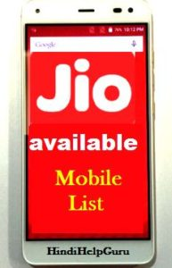 Reliance Jio SIM card smartphone list