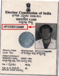 Example voter id card