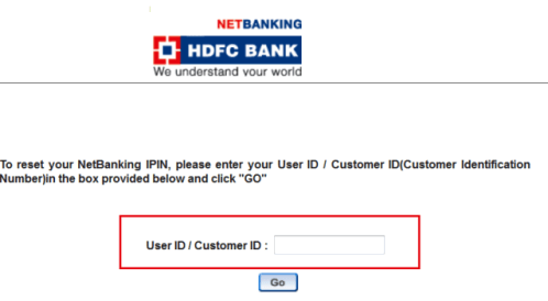 generate hdfc mobile banking ipin