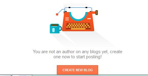 create new blog option