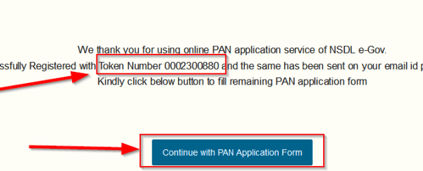 pan card token number