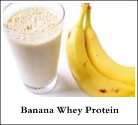 banana whey protein shake