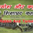 Rabbit And Tortoise Motivational Moral Story in Hindi [object object] Rabbit And Tortoise Motivational Moral Story in Hindi Rabbit And Tortoise Motivational Moral Story in Hindi poster001
