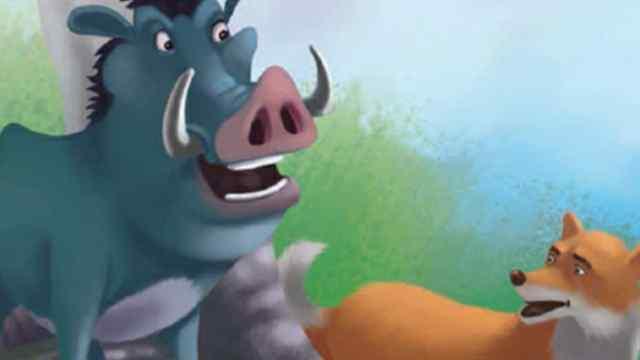 जंगली सुअर और लोमड़ी Moral Story In Hindi With Picture