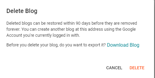 How To Delete A Blogger Account?