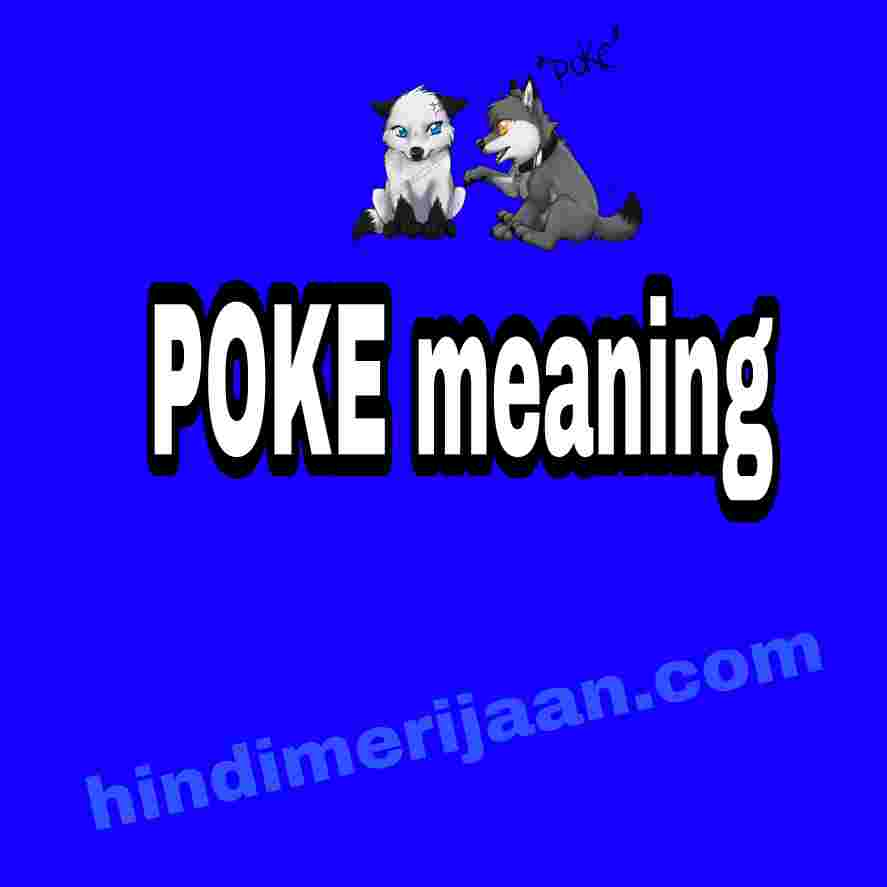 poke meaning in hindi
