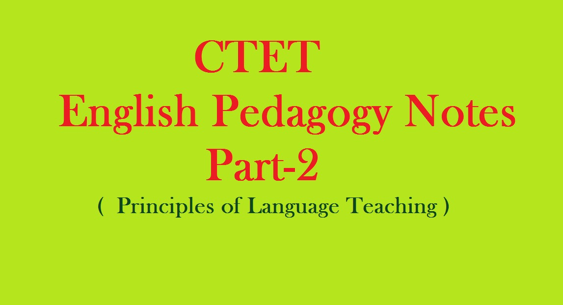 ctet english pedagogy notes pdf